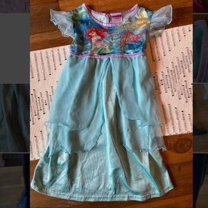 ariel night gown little mermaid 3t disney princess